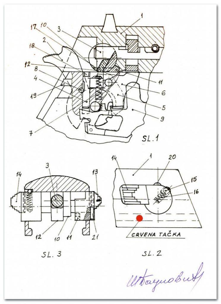 Patentna prijava Milivoja Paunovića za pištolј CZ-99S - CZ-99GPS