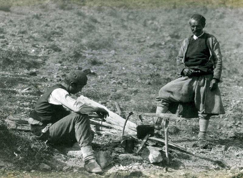 Crnogorac naoružan gaserom M1870. Bojište kod Skadra, početak aprila 1913. Foto S. Černov, AS