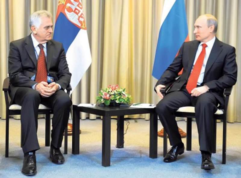Predsednik Nikolić u susretu sa predsednikom Putinom