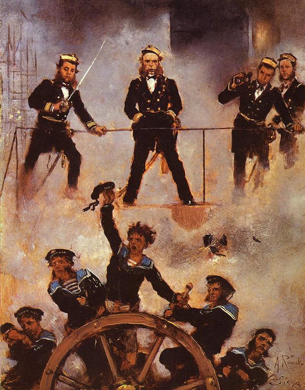 Admiral Tegethof u bici austrijske i italijanske flote kod Visa 1866 godine, rad Anton Romako