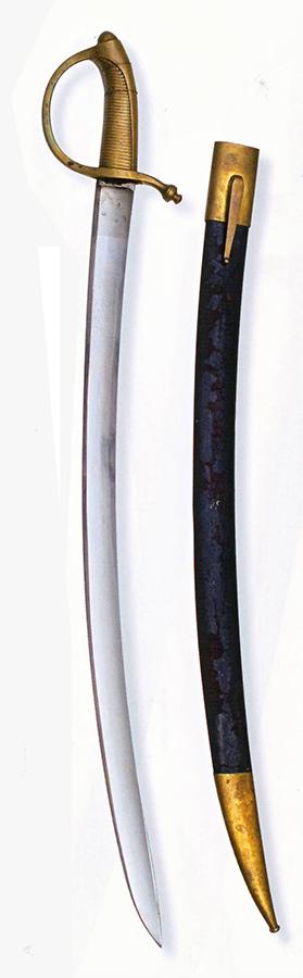 Prvi tesak pitmaca – pešadijska sablja M1817