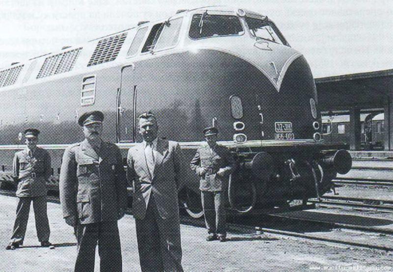 Krauss Maffei D66-003 Sutjeska na probnoj voznji u Skoplju 1958