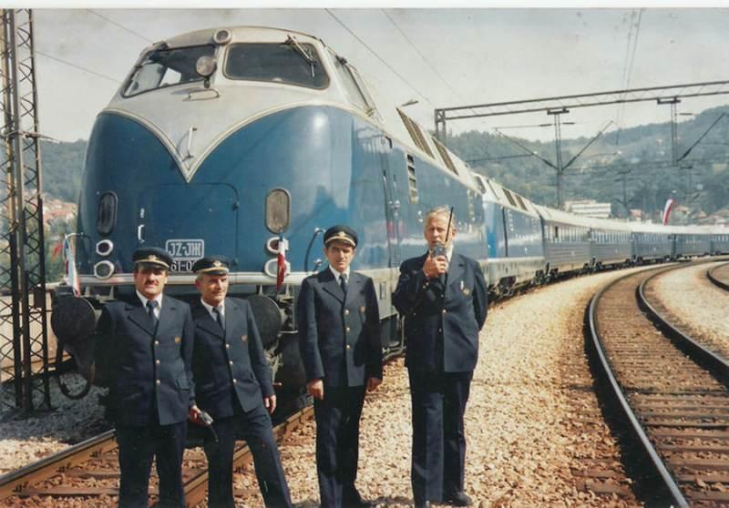 Krauss Maffei 761-003 na otvaranju pruge Beograd-Bar 25 maj 1976