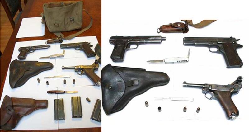 Oružje iz fundusa BIA na izložbi u Vojnom muzeju, Beograd, 2010.