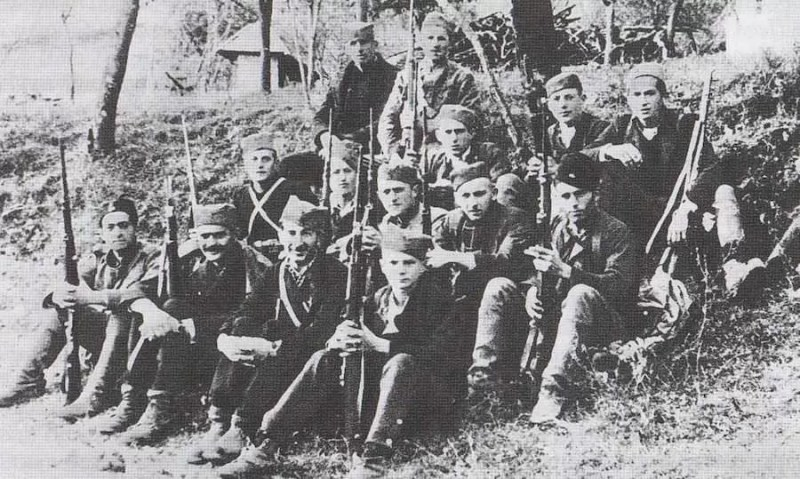 Zacetak Titove Garde kod Uzica u jesen 1941