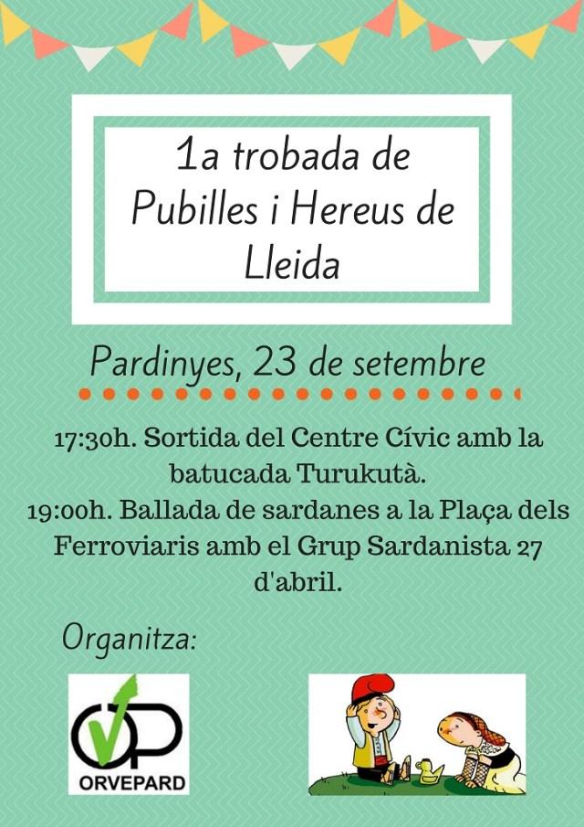 Moolt Important !!!! a Pardinyes 1ª Trobada de Pubilles i Hereus de LLeida