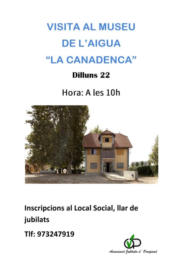 "Visita al Museu de l'Aigua ""La Canadenca"""