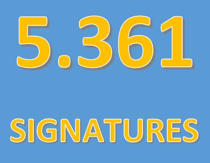 Entrega de signatures a la Paeria