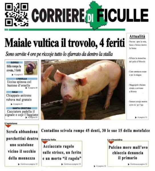 """A Ficulle c'è """"Il Corriere di Ficulle"""", giornale satirico"""