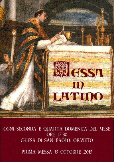 Messa in Latino presso il monastero di San Paolo a Orvieto