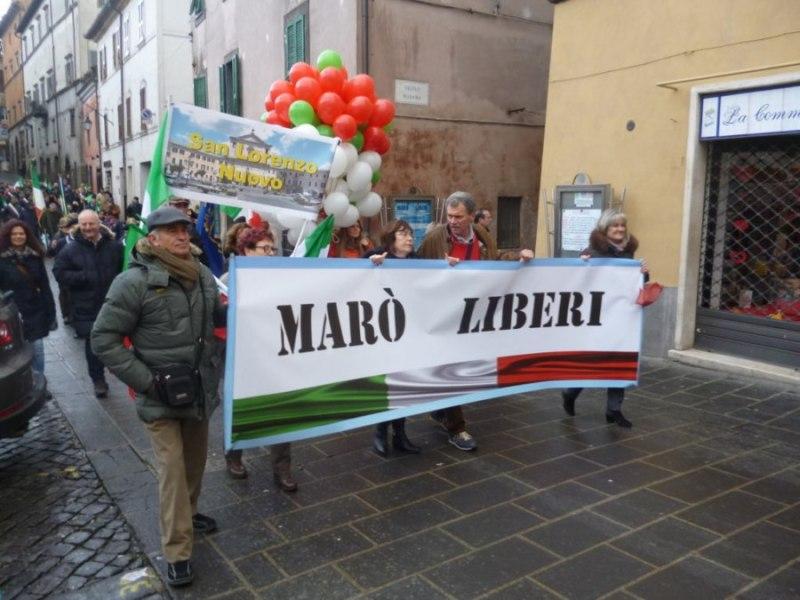 """Acquapendente. Elogi e apprezzamenti da tutta Italia per la manifestazione nazionale """"Marò Liberi"""""""