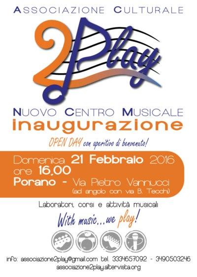 Associazione Culturale 2 Play: a Porano un nuovo centro musicale tra note e divertimento