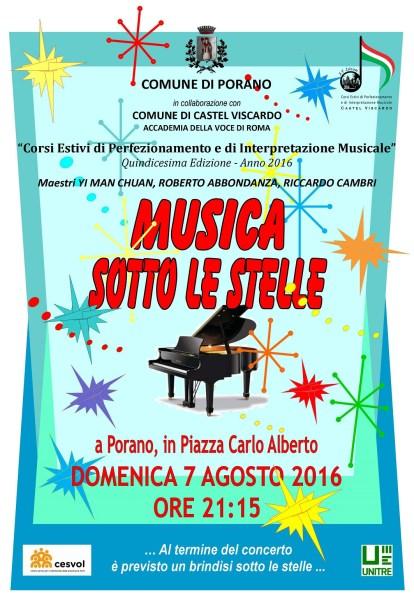 """Anche a Porano è """"Musica sotto le stelle"""""""