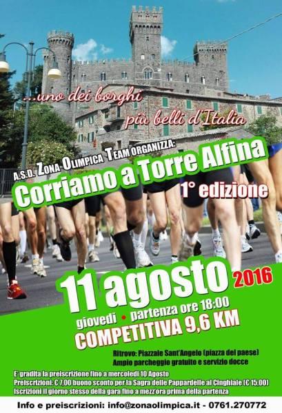 Al via la 1^ edizione gara podistica competitiva Corriamo a Torre Alfina