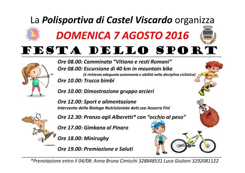 Festa dello Sport: il 7 agosto si suda e si gioca con la Polisportiva di Castel Viscardo