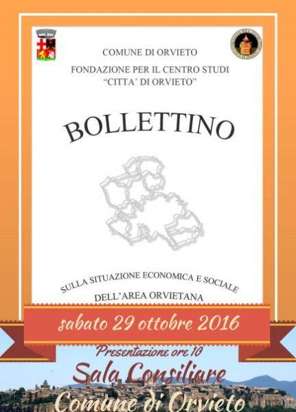 """""""Bollettino sulla situazione economica e sociale dell'Area Orvietana – 2016"""", dopo 8 anni ritorna la pubblicazione"""