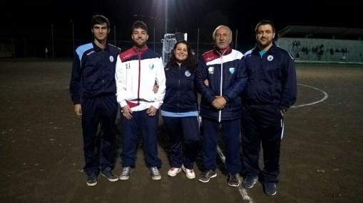 Allenatori (da dx a sx): Basili Riccardo (Primi Calci) - Antonio Pennino (Giovanissimi) - Nadia Mengarelli (Pulcini 2006) - Filippo Mattia Baffo (Pulcini 2007) - Riccardo Marricchi (Esordienti)