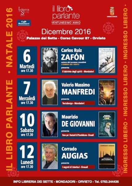 """""""Il libro parlante"""", poker di scrittori per la XXII edizione. Appuntamenti fino al 12 dicembre"""