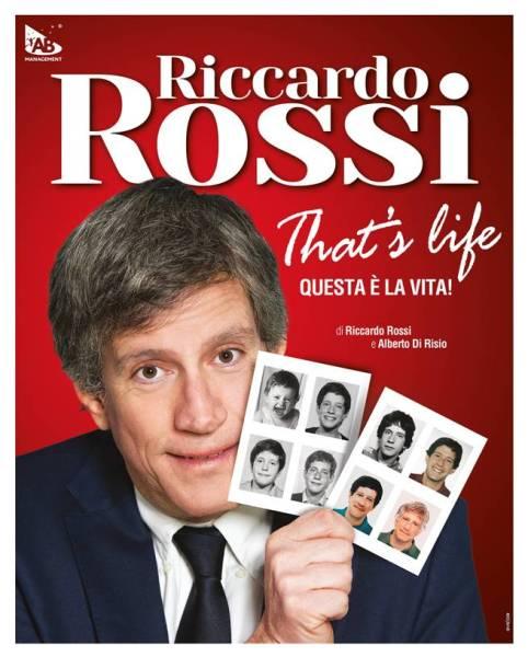 """L'ironia di Riccardo Rossi va in scena al Mancinelli con """"That's Life – Questa è la vita"""""""