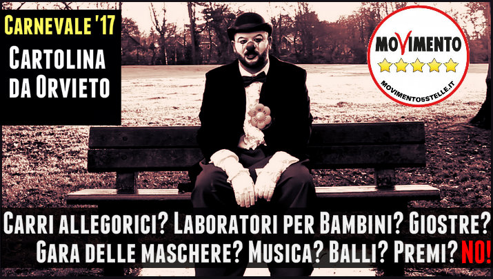 M5S Orvieto: Zero eventi per carnevale