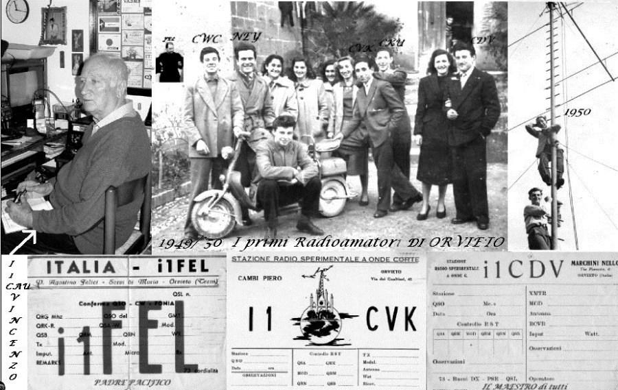 """Uno sguardo al passato:  """"I primi radioamatori di Orvieto 1949/1950"""""""