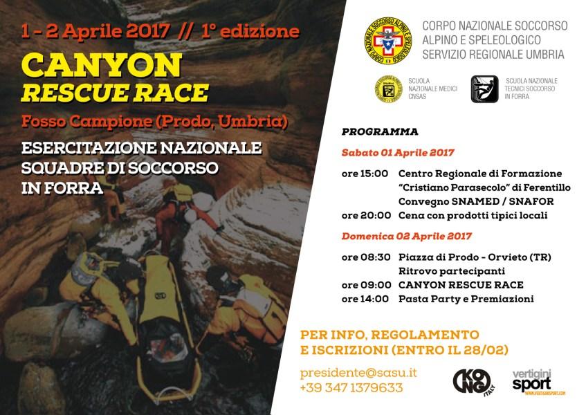Canyon Rescue Race, prende il via la prima edizione a Prodo