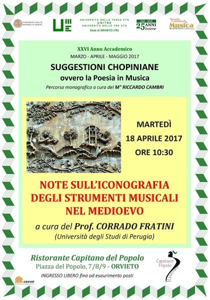 All'UniTre per Chopin conferenza con il prof.Corrado Fratini