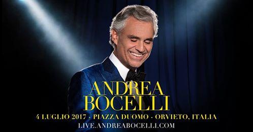 Orvieto 4Ever: Andrea Bocelli ospite d'onore di Victory, la festa del 4 luglio sotto le guglie del Duomo