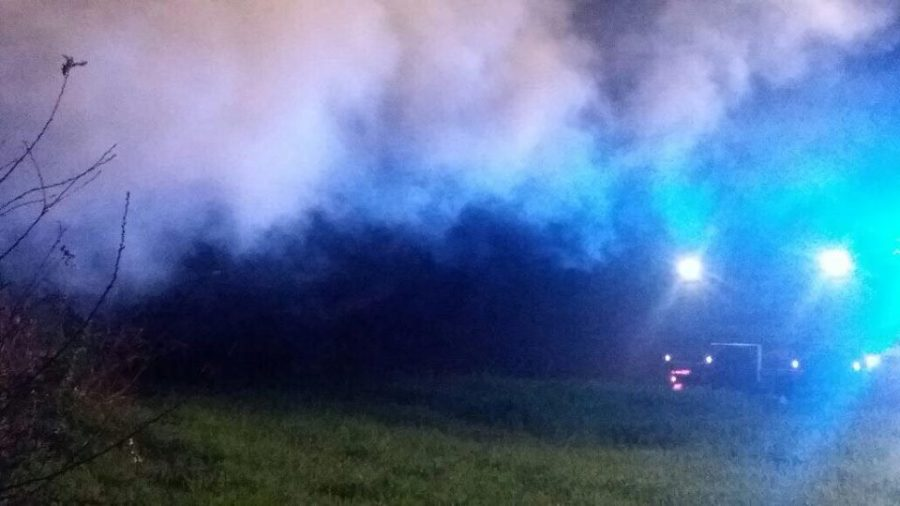 Vasto incendio nelle campagne dell'Orvietano, fiamme su più fronti