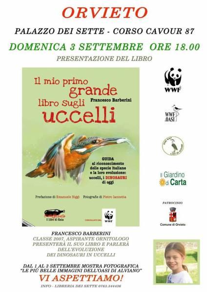 L'aspirante ornitologo Francesco Barberini vola in libreria e fa tappa ad Orvieto