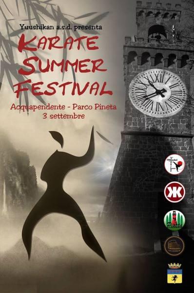 """La via la seconda edizione del """"Karate Summer Festival"""" ad Acquapendente"""