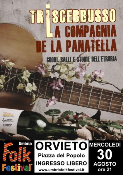 La Compagnia de la Panatella sul palco di Umbria Folk Festival 2017