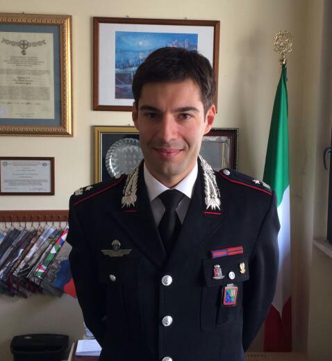 Il maggiore Nardò e' il nuovo comandante del nucleo investigativo dei Carabinieri di Terni
