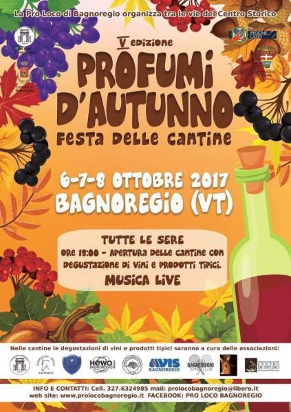 """Tutto pronto a Bagnoregio per la V edizione dei """"Profumi d'Autunno. Festa delle cantine"""""""