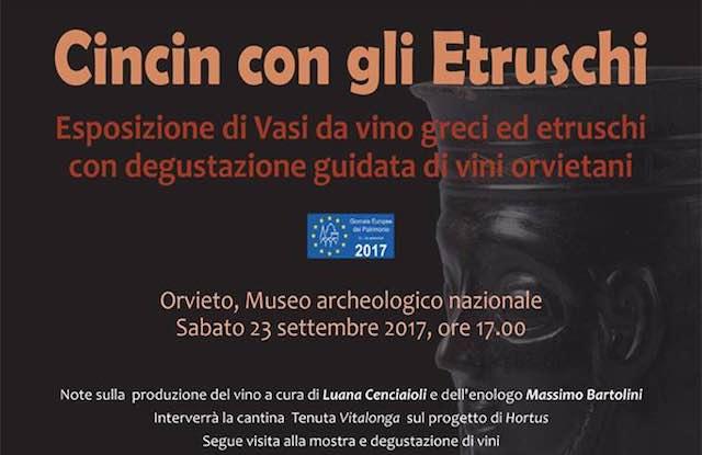 Giornate europee del patrimonio, è l'ora del Cin Cin con gli Etruschi