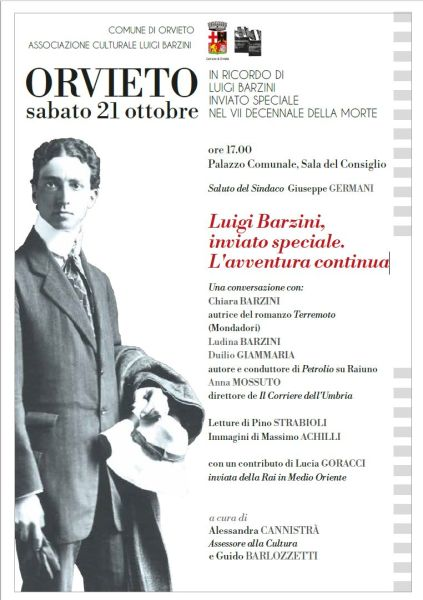 Orvieto Omaggia Luigi Barzini a 70 anni dalla sua scomparsa