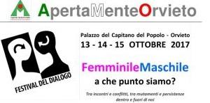 Dialogare apertamente tra il maschile e il femminile. Si apre il 4° Festival del Dialogo a Orvieto