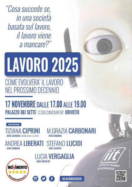 Lavoro 2025: a Palazzo del Popolo il convegno del M5S sull'occupazione del futuro