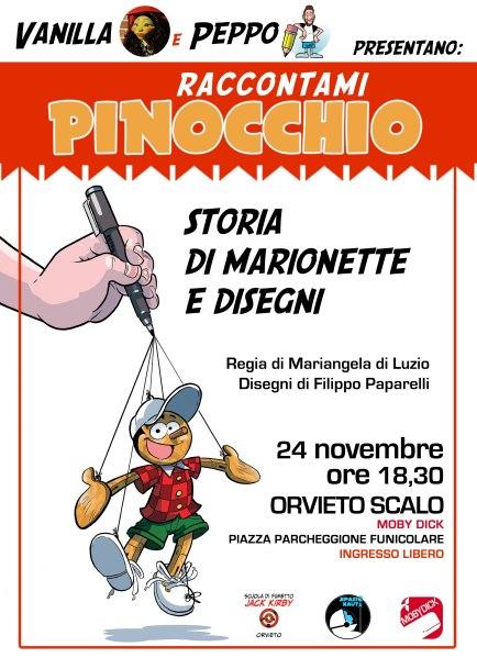 Raccontami Pinocchio: Allo Spazionauta spettacolo di burattini in occasione dell'anniversario di Collodi