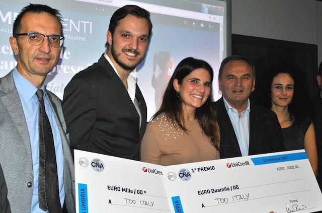 """""""Un premio al talento e al coraggio delle nuove imprese"""", la Cna premia Too Italy"""