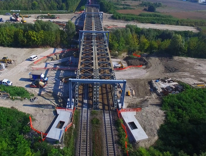 Ceprini Costruzioni realizza primo intervento al mondo di retrofit del ponte ferroviario di Poggio-Renatico