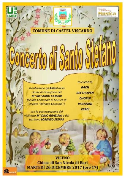 Castel Viscardo, tradizionale concerto di Santo Stefano diretto dal maestro Riccardo Cambri