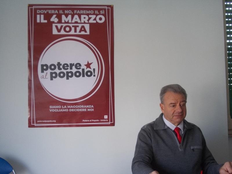 """""""Potere al Popolo"""", si presenta il candidato Fiorangelo Silvestri in vista delle elezioni del 4 marzo"""