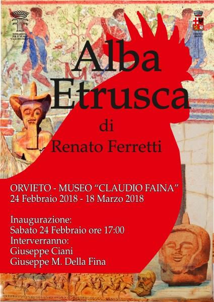 Renato Ferretti misura la propria arte con il mondo Etrusco. In mostra le sue opere al Museo Faina