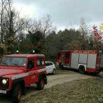 Auto in fiamme nei pressi della centrale di Baschi