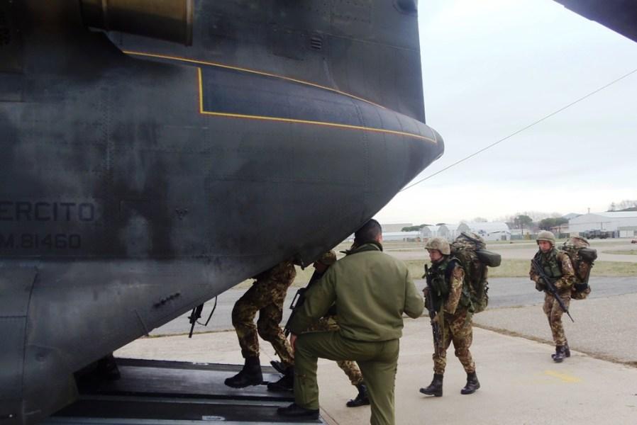 Terminato in questi giorni a Viterbo l'addestramento all'elitrasporto per gli Allievi Marescialli del XX° corso Certezza