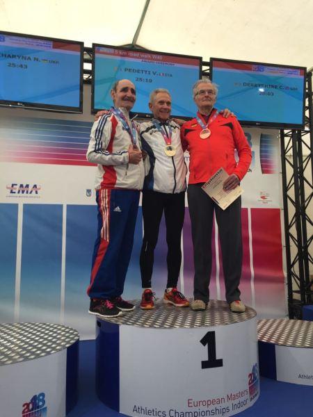 Europei master Indoor, tris d'oro per l'82enne Romolo Pelliccia. Sul tetto d'Europa anche l'orvietana Valeria Pedetti
