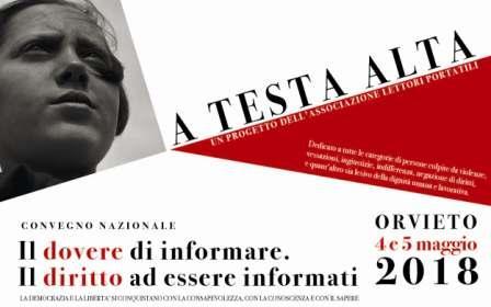 Giornalisti minacciati. Ad Orvieto convegno su presente e futuro dell'informazione