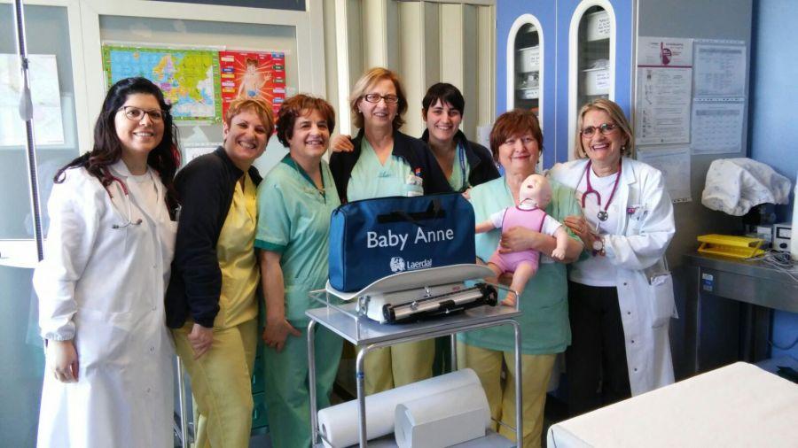Pediatria Santa Maria della Stella, attrezzature biomedicali in dono dalla Famiglia Tiberi