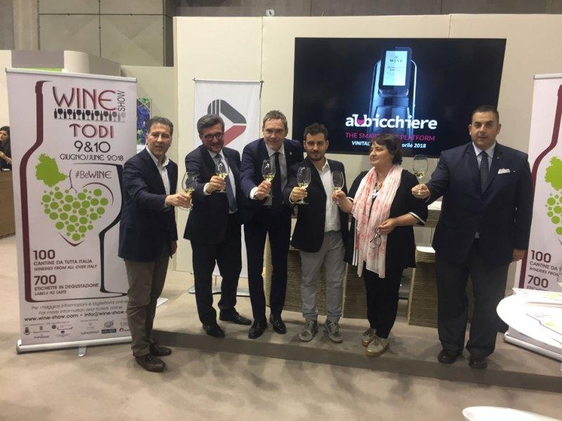 Presentato il programma di Wine Show 2018 Todi edition. Il vino a 360 gradi con l'app Virtual Taste